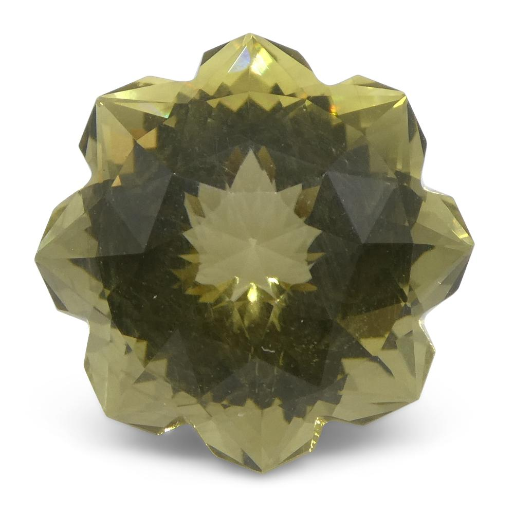 7.12ct Flower Lemon Citrine Fantasy/Fancy Cut