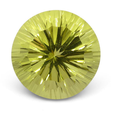 9.39ct Round Lemon Citrine Fantasy/Fancy Cut - Skyjems Wholesale Gemstones