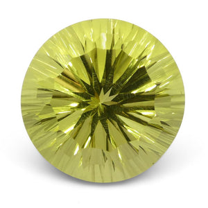 9.39ct Round Lemon Citrine Fantasy/Fancy Cut