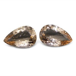 8.97 ct Pear Morganite Pair - Skyjems Wholesale Gemstones