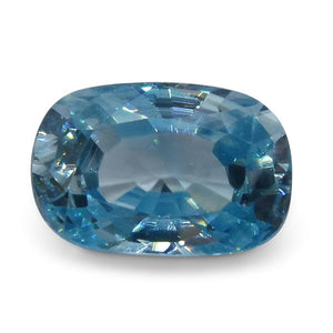 3.88 ct Oval Blue Zircon - Skyjems Wholesale Gemstones