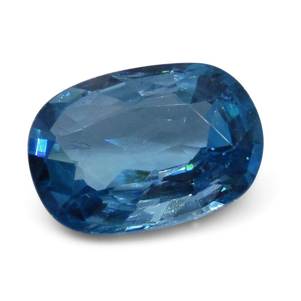 4.55 ct Oval Blue Natural Zircon