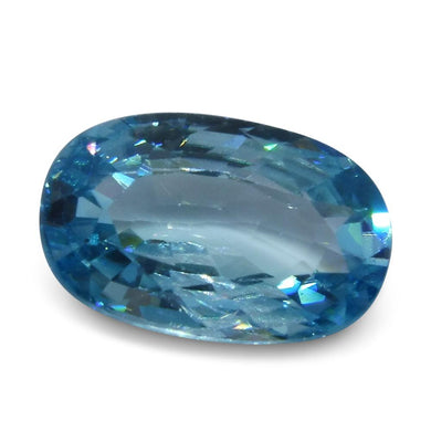 4.35 ct Oval Blue Zircon - Skyjems Wholesale Gemstones