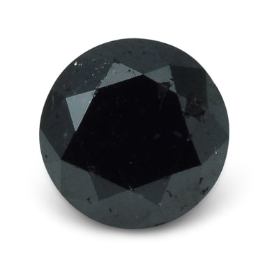 Black Diamond 2.4 cts  Round Black  $130