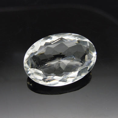 21.44 ct Oval White Quartz - Skyjems Wholesale Gemstones