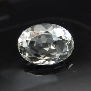 21.61 ct Oval White Quartz