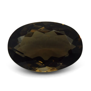 26.91 ct Oval Smoky Quartz - Skyjems Wholesale Gemstones