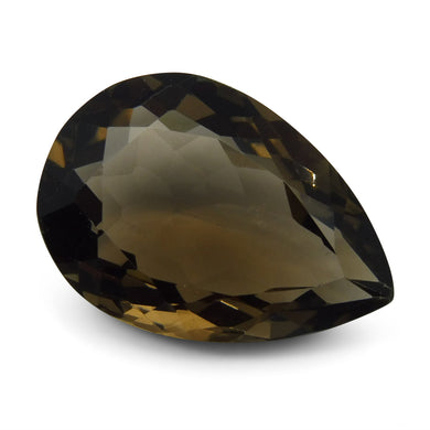 23.35 ct Pear Shape Smoky Quartz