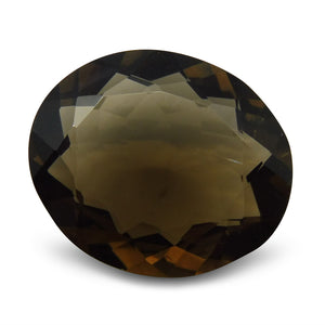 24.3 ct Oval Smoky Quartz