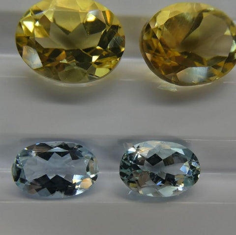 10 Pairs Faceted Gems: Emerald, Opal, Tourmaline, Peridot, Aquamarine and more! Wholesale Lot