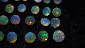 13 Stones - 1.95 ct Opal 4mm Faceted Round - Skyjems Wholesale Gemstones