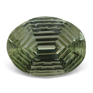 17.65ct Oval Prasiolite Fantasy/Fancy Cut - Skyjems Wholesale Gemstones