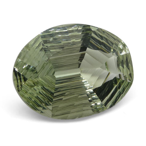 17.65ct Oval Prasiolite Fantasy/Fancy Cut