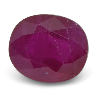 0.75 ct Oval Ruby Burma - Skyjems Wholesale Gemstones