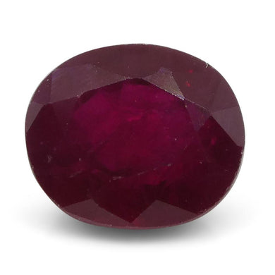 1.04 ct Oval Ruby Burma - Skyjems Wholesale Gemstones