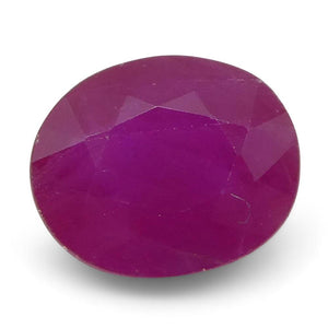 0.56 ct Oval Ruby Burma - Skyjems Wholesale Gemstones