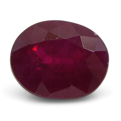 0.88 ct Oval Ruby Burma - Skyjems Wholesale Gemstones
