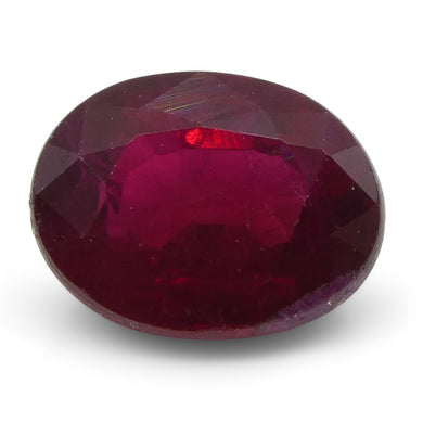 0.69 ct Oval Ruby Mozambique - Skyjems Wholesale Gemstones