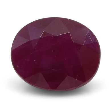 0.82 ct Oval Ruby Burma - Skyjems Wholesale Gemstones