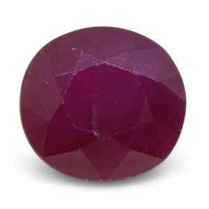 1.07 ct Oval Ruby Burma - Skyjems Wholesale Gemstones