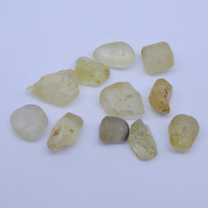 15.13 cts Rough Unheated Yellow Sapphire from Sri Lanka / Ceylon - Skyjems Wholesale Gemstones