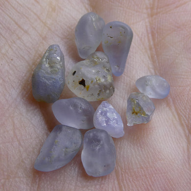 15.01 cts Rough Unheated Grey Blue Sapphire from Sri Lanka / Ceylon - Skyjems Wholesale Gemstones