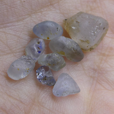 15.20 cts Rough Unheated Grey Blue Sapphire from Sri Lanka / Ceylon - Skyjems Wholesale Gemstones