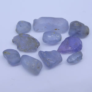 15.17 cts Rough Unheated Grey Blue Sapphire from Sri Lanka / Ceylon - Skyjems Wholesale Gemstones