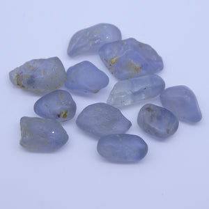 Rough Sapphire 15.1 cts <<MEASUREMENTS>>mm <<SHAPE>> Grey Blue  $150