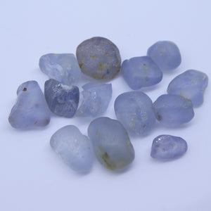 Rough Sapphire 15.11 cts <<MEASUREMENTS>>mm <<SHAPE>> Grey Blue  $150