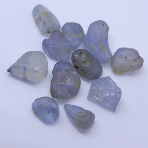 15.11 cts Rough Unheated Grey Blue Sapphire from Sri Lanka / Ceylon