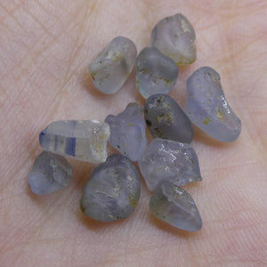 15.11 cts Rough Unheated Grey Blue Sapphire from Sri Lanka / Ceylon - Skyjems Wholesale Gemstones