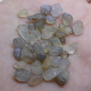 50.24 cts Rough Unheated Mixed Color Sapphire from Sri Lanka / Ceylon - Skyjems Wholesale Gemstones
