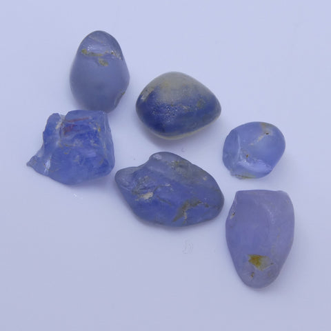 7.35 cts Rough Unheated Blue Sapphire from Sri Lanka / Ceylon