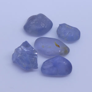 7.23 cts Rough Unheated Blue Sapphire from Sri Lanka / Ceylon - Skyjems Wholesale Gemstones
