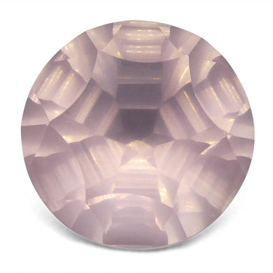 12.65ct Round Rose Quartz Fantasy/Fancy Cut - Skyjems Wholesale Gemstones