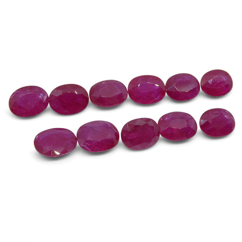 Ruby Wholesale Lot, 24.31cts, 11 Stones
