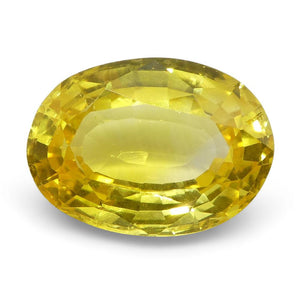 Yellow Sapphire 2.03 cts 9.11x6.62x3.64mm Oval Yellow  $920