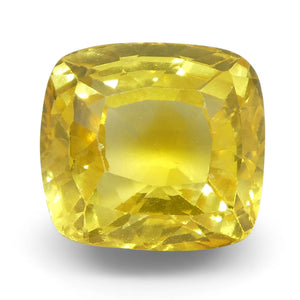 Yellow Sapphire 2.07 cts 6.66x6.26x4.68mm Cushion Yellow  $940