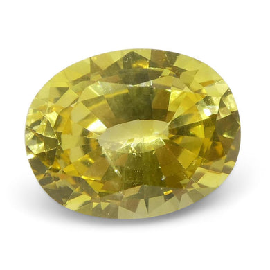 Yellow Sapphire 1.68 cts 7.96x6.33x3.97mm Oval Yellow  $420
