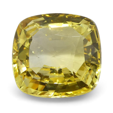 Yellow Sapphire 2.21 cts 7.71x7.47x3.85mm Cushion Yellow  $560