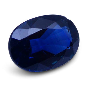 0.84 ct Oval Genuine Natural Blue Sapphire