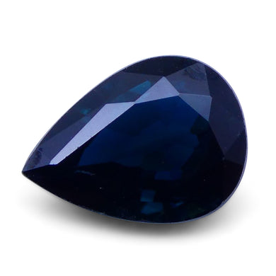 1.54 ct Pear Genuine Natural Blue Sapphire