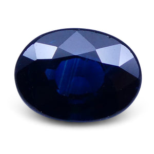 1.50 ct Oval Genuine Natural Blue Sapphire