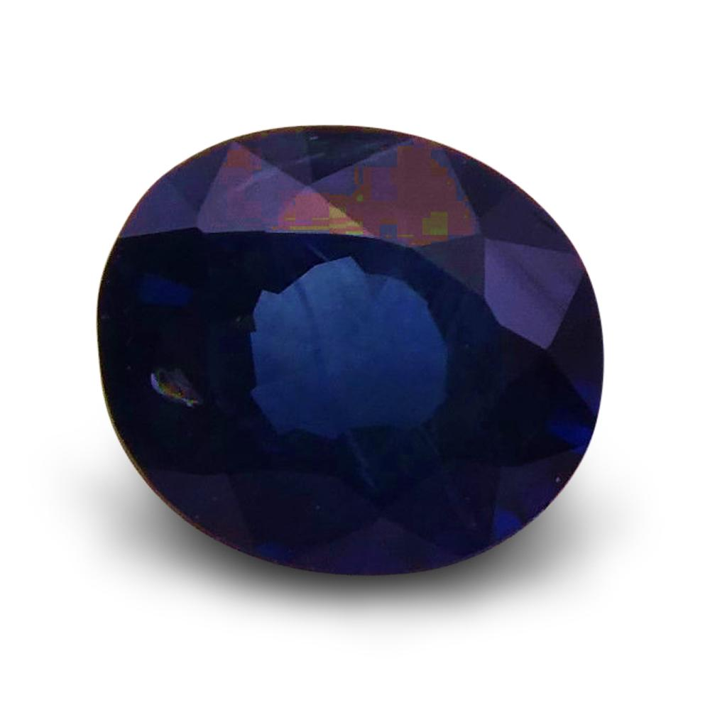 0.95 ct Oval  Blue Sapphire