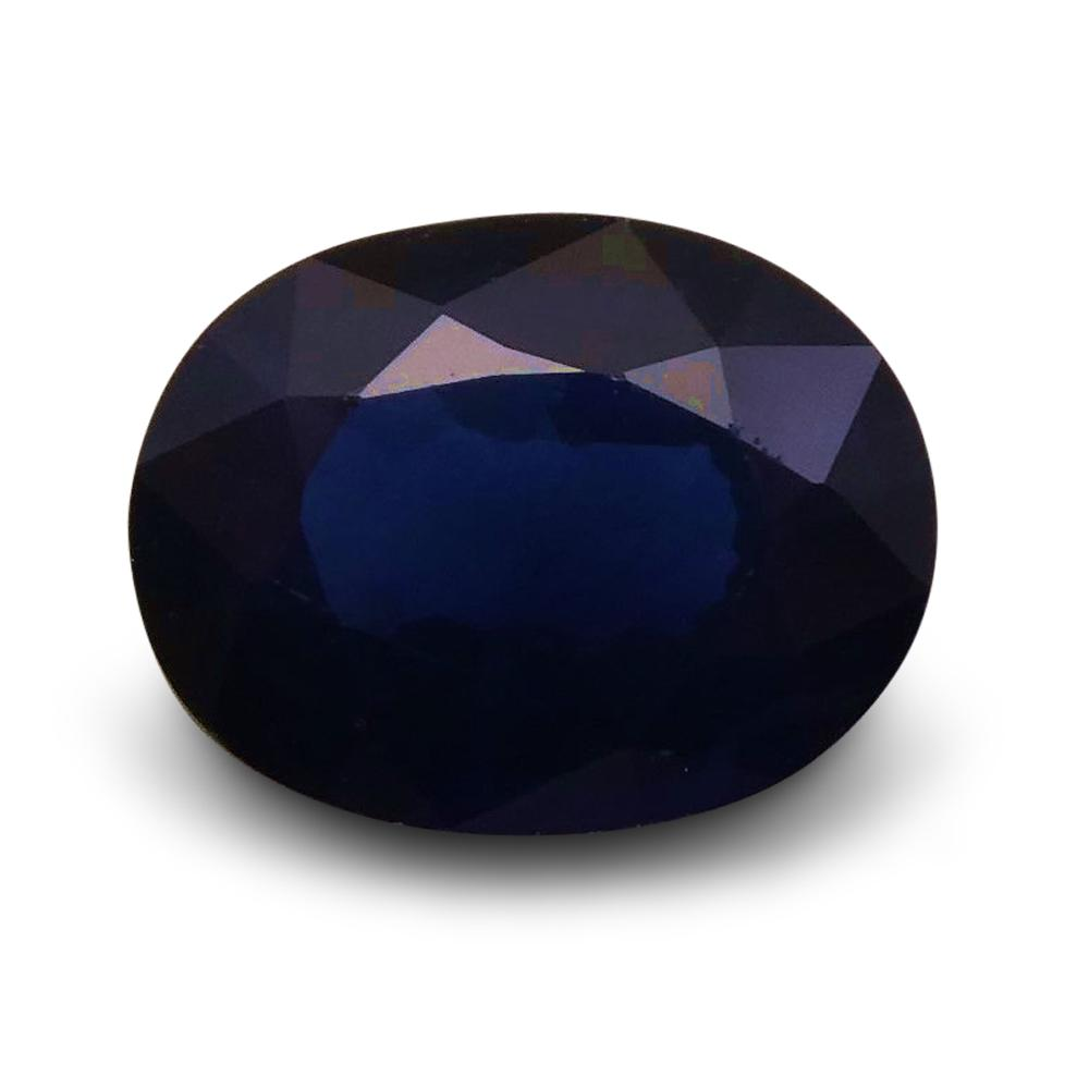 1.36 ct Oval  Blue Sapphire