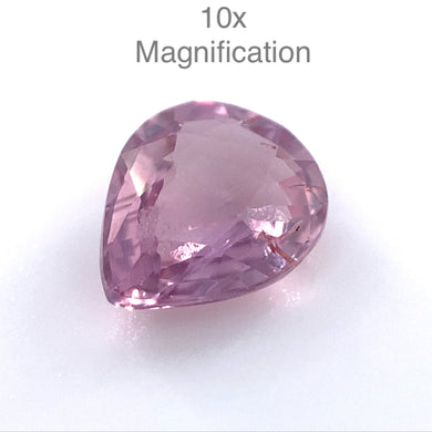 1.04ct Pear Pink Sapphire Unheated - Skyjems Wholesale Gemstones