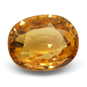 2.86 ct Oval Vivid Fanta Orange Spessartite/Spessartine Garnet - Skyjems Wholesale Gemstones