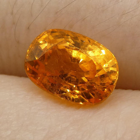 2.2 ct Cushion Vivid Fanta Orange Spessartite/Spessartine Garnet
