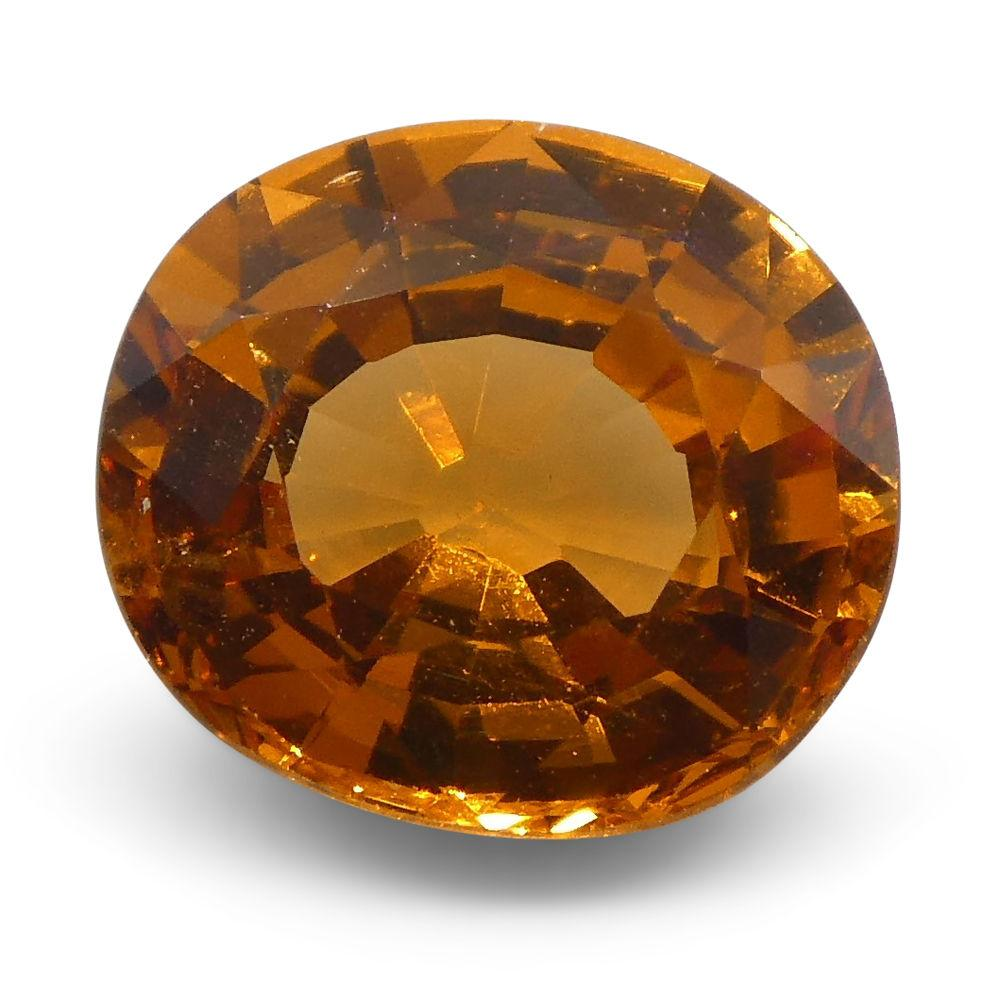 1.98 ct Oval Vivid Fanta Orange Spessartite/Spessartine Garnet